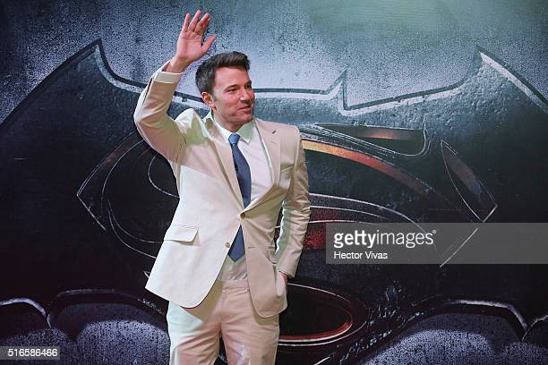 The actor Ben Affleck during the Batman v Superman Premiere at Auditorio Nacional on March 19 2016 in Mexico City Mexico