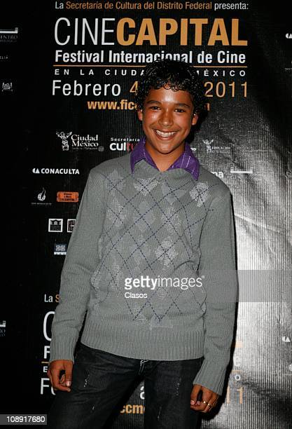 The Actor Beny Mendoza poses for a Photo Shoot during the screening of the movie De La Infancia directed by Carlos Carrera on February 7 2011 in...