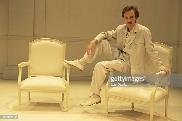 The actor Carlos Hipolito in Yasmina Reza´s ´Art´ The actor on the stage