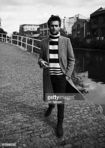 The actor Douglas Booth is photographed for Jackal magazine on August 7 2017 in London England