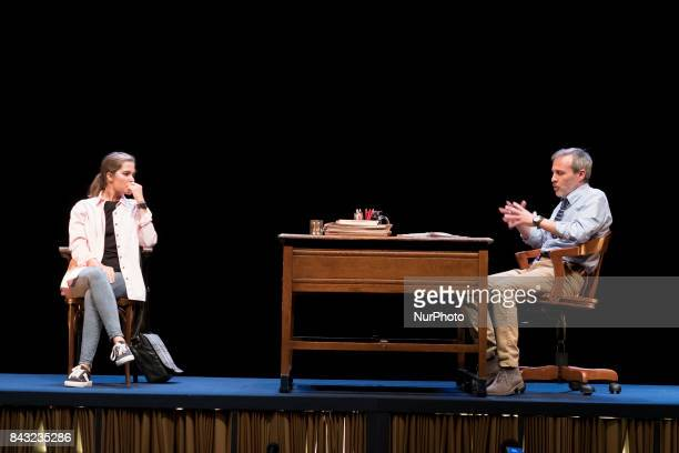 The actor Fernando Guillen Cuervo and actress Natalia Sanchez during the presentation of OLEANNA in the theater arts of Madrid Spain on 5 September...