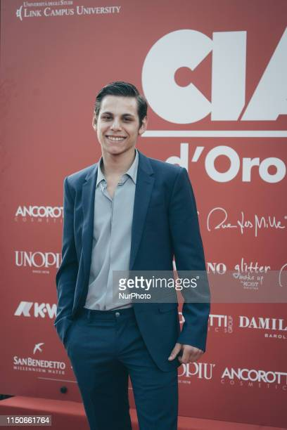 The actor Francesco Di Napoli arrives at the Ciak D'Oro Awards Ceremony at Link Campus University on June 18 2019 in Rome Italy
