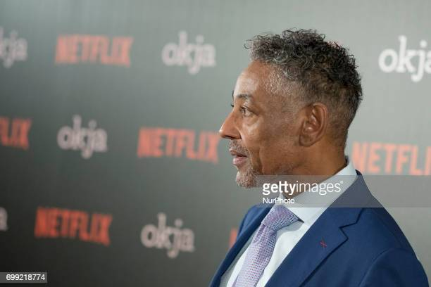 The actor Giancarlo Esposito visits Madrid to promote the film of Netflix OKJA