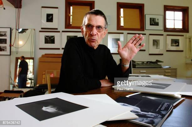 The actor Leonard Nimoy in his photo office/studio at his home March 2, 2002 in Bel Air, Los Angeles, California.