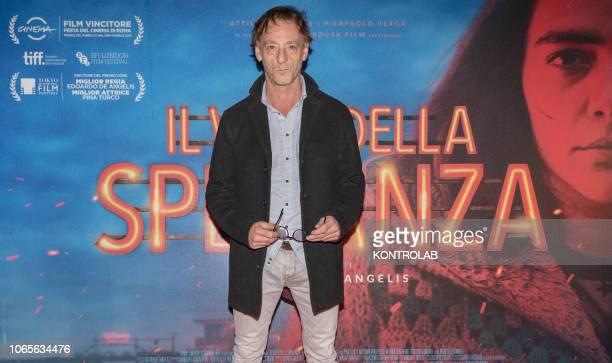 The actor Massimiliano Rossi at the presentation of the drama 'Il vizio della speranza' directed by Edoardo De Angelis at the Duel Village in Caserta...