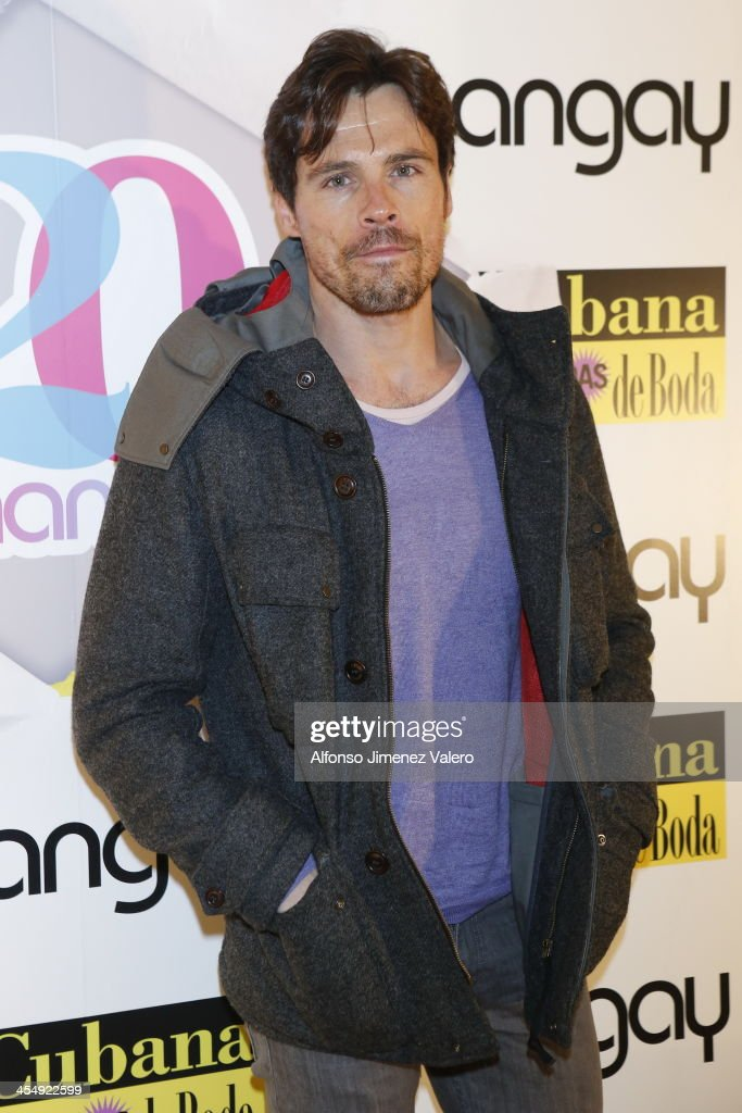 The actor Octavio attends Shangay Magazine 20th Anniversary in Madrid at teatro Nuevo Alcala on December 10, 2013 in Madrid, Spain.