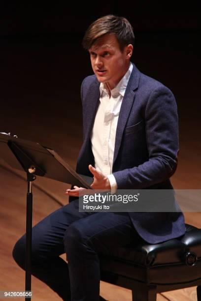 The actor Sam Lilja performing Paul Hindemith's La Belle Dame sans Merci and Benjamin Britten's Sonnet in Juilliard Songfest Settings of John Keats...