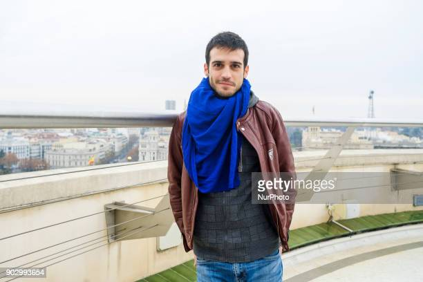 The actor Samuel Viyuela attends the presentation of the work Hablar por Hablar at the Circulo de Bellas Artes in Madrid Spain January 9 2018