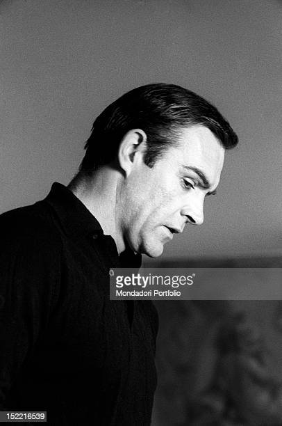 The actor Sean Connery on the set of Thunderball fourth episode of secret agent 007's series Pinewood march 1965