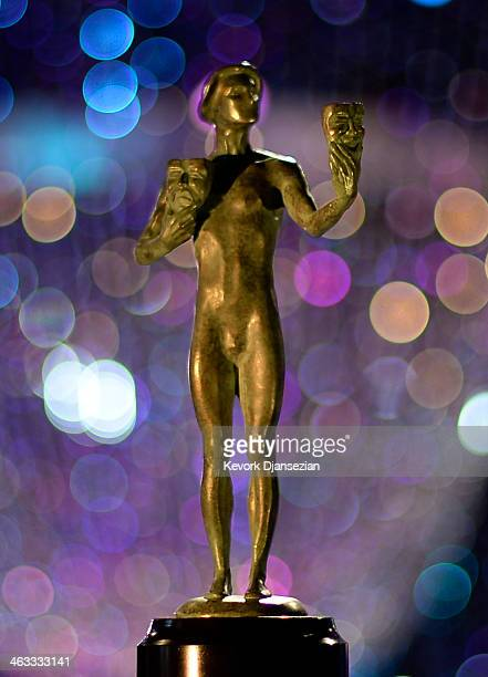 The Actor statue is viewed during preparation for the 20th Annual Screen Actors Guild on January 17, 2014 in Los Angeles, California.