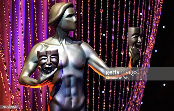 The 'Actor' statue on display during The 22nd Annual Screen Actors Guild Awards at The Shrine Auditorium on January 30 2016 in Los Angeles California