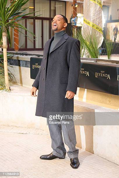 The actor Will Smith at the press photocal of the film 'I am legend' on December 14 2007 in Madrid