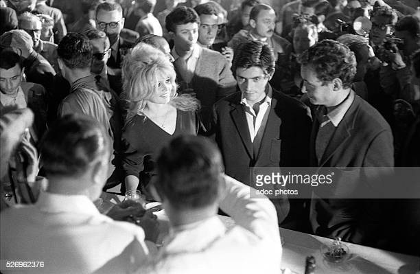The actors Brigitte Bardot and Sami Frey during the shooting of the film 'La V��rit��' directed by HenriGeorges Clouzot in 1960