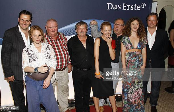 The actors Charly Huebner Maria Simon Horst Krause Wolfgang Winkler Isabell Gerschke Jaecki Schwarz Anna Maria Sturm and Matthias Brand attend the...
