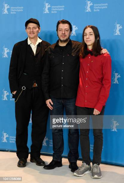 "The actors Georg Friedrich and Tristan Goebel and the director Thomas Arslan during the photo call of the film ""Bright Nights"" at the 67th..."