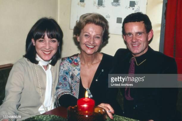 The actors Heidelinde Weis Susanne von Almassy and Werner Pochath Germany 1970s