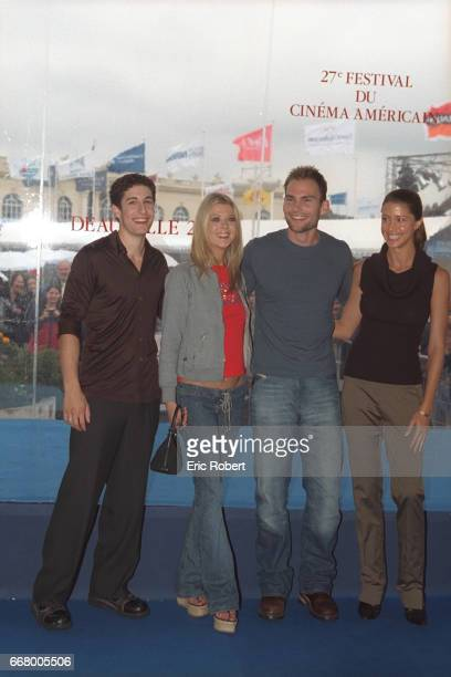 The actors of the film 'American Pie 2' by Jason BRogers Jason Biggs Tara Reid Chris Klein and Shannon Elizabeth