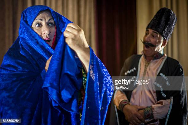The actors of the State Lezgi Drama Theatre play Arshin Mal Alan in Qusar Azerbaijan The theatre of the Lezgi minority was found in 1993 110...