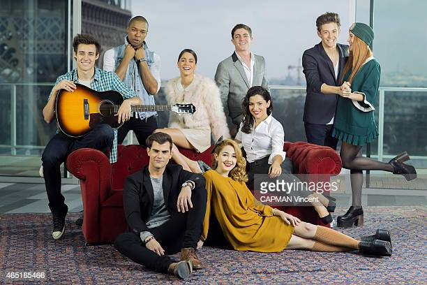the actors of Violetta the argentine TV series and the concerts with Martina Stoessel Jorge Blanco Samuel Nascimento Facundo Gambande Ruggero...