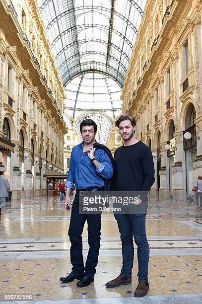 The actors Pierfrancesco Favino and Lorenzo Richelmy in Milan today to launch the second season of Marco Polo the Netflix original series that will...