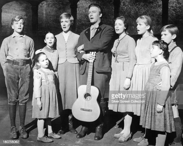 The actors playing members of the Von Trapp family in a promotional portrait for 'The Sound Of Music' directed by Robert Wise 1965 Left to right...