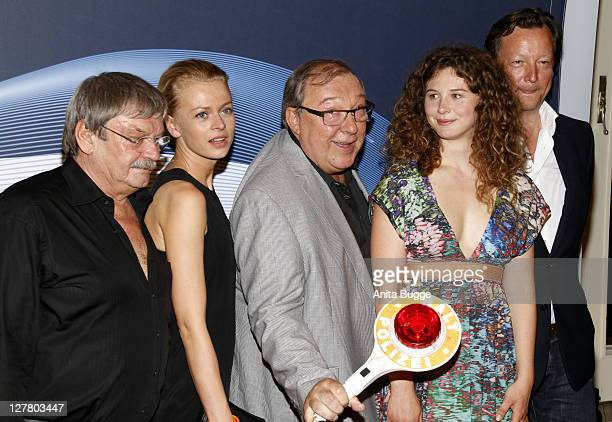 The actors Wolfgang Winkler Isabell Gerschke Jaecki Schwarz Anna Maria Sturm and Matthias Brand attend the Polizeiruf 110 40th Anniversary...