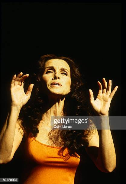The actress and singer Ana Belen during a performance of Gabriel Garcia Marquez's 'Diatriba de amor contra un hombre sentado' play directed by Jose...