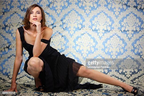 The actress Anna Foglietta posing in a photocall for her role in the TV series Distretto di polizia 8 Italy 2008