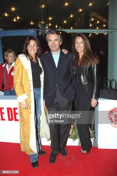 The actress Astrid Veillon with Nicole and Gilbert Coullier