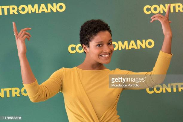 The actress Aude Legastelois at the photocall presenting the film Contromano, cinema Anteo. Milan, March 23rd, 2018