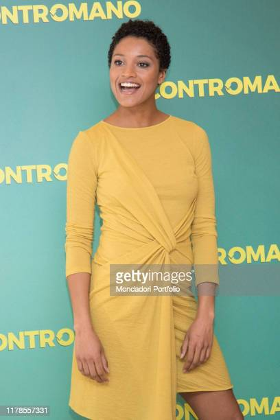 The actress Aude Legastelois at the photocall presenting the film Contromano cinema Anteo Milan March 23rd 2018