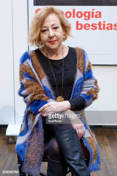 The actress Carmen Machi during the presentation of Chronology of the beasts at the Teatro Español on March 6 2018 in Madrid Spain