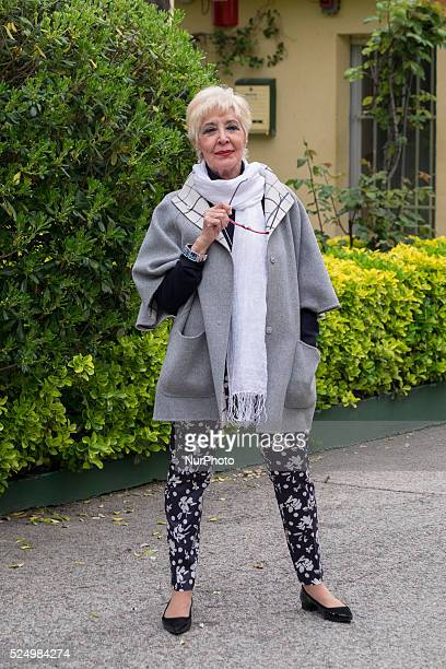 The actress Concha Velasco attends presents the play 'Queen Juana' in the Theater of the Abbey of Madrid Spain April 27 2016 Photo by Oscar
