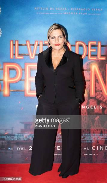 The actress Cristina Donadio at the presentation of the drama 'Il vizio della speranza' directed by Edoardo De Angelis at the Duel Village in Caserta...