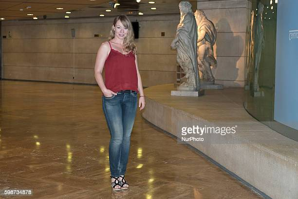 The actress Cristina Goyanes attends presentacion of quotRevenge of Don Mendoquot in Fernan Gomez Theater of Madrid on September 2 2016