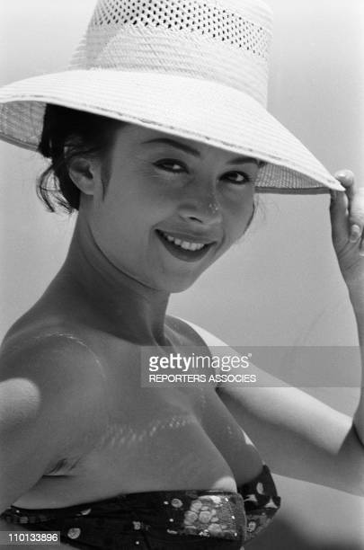 The actress Dany Carrel in 1965