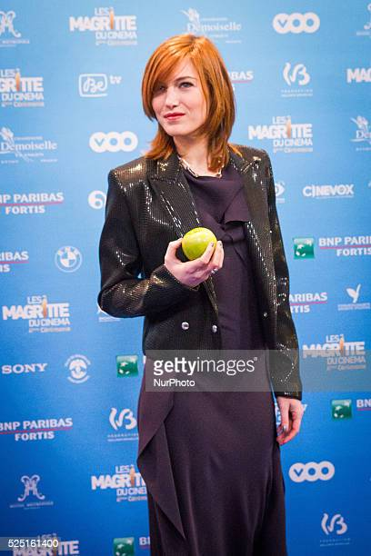 The actress Erika Sainte at the 4th Ceremony of the Magritte celebrating the best of the belgian movie industry