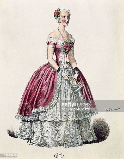 The actress Eugenie Doche in the title role in The Lady of the Camellias drama by Alexandre Dumas fils France 19th century
