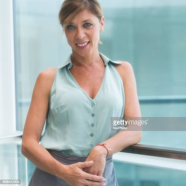 The actress Eva Isanta during the presentation of EL CÍCLOPE in the theaters of the Madrid Channel August 24 2017