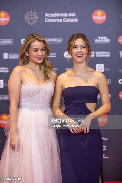 The actress Julia Creus and Georgina Amoros are seen posing in the photocall of the XII Gaudi Awards granted by the Catalan Film Academy on January...