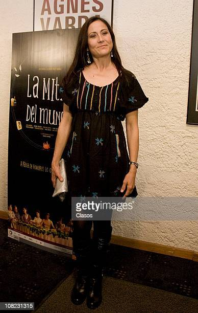 The actress Lumi Cavazos attends to the Red carpet of the movie La Mitad del Mundo in Cinetaca Nacional on January 21 2011 in Mexico City