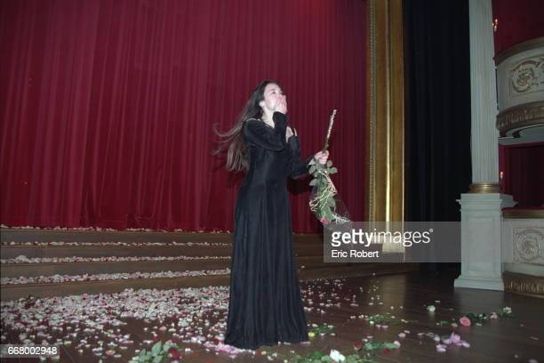 The actress makes her adieux during the last performance of the play by Rene de Ceccatty 'La Dame aux Camelias' adapted from the novel by Alexandre...