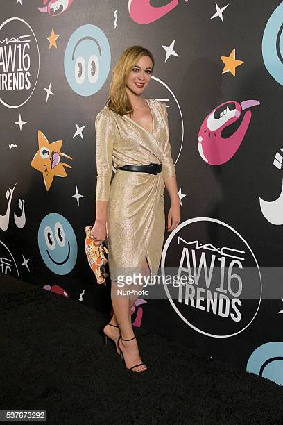 The actress Marta Hazas attending the party makeup brand MAC AW16 held Madrid Spain on June 2 2016
