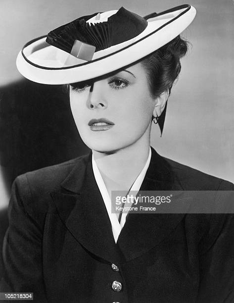The Actress Mary Astor Pictured During The Shooting Of The Film The Great Lie On April 30 1941 She Wears A Panama Sailor Hat With An Upturned Brim...