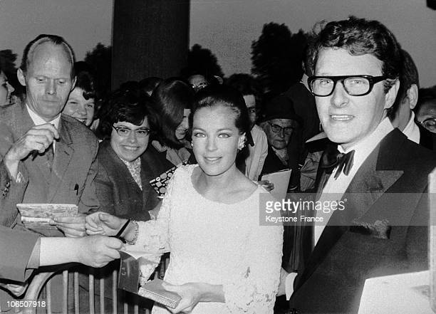 The Actress Romy Schneider And His Husband Harry Meyen On The 13Th International Film Festival In Berlin On June 21 1968