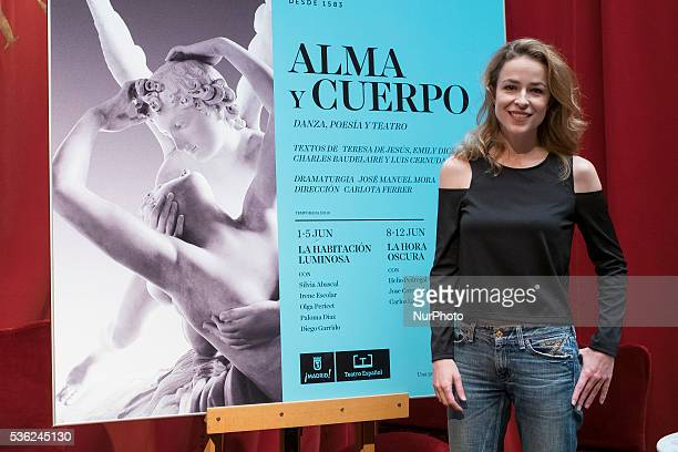 The actress Silvia Abascal attends the presentation of the theater play quotSoul and Bodyquot in the Spanish theater of Madrid Spain May 31 2016