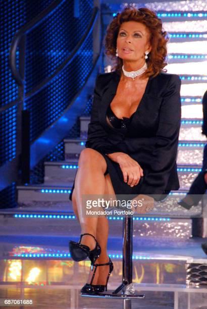 The actress Sophia Loren in a Tv studios Milan Italy 27th July 2010