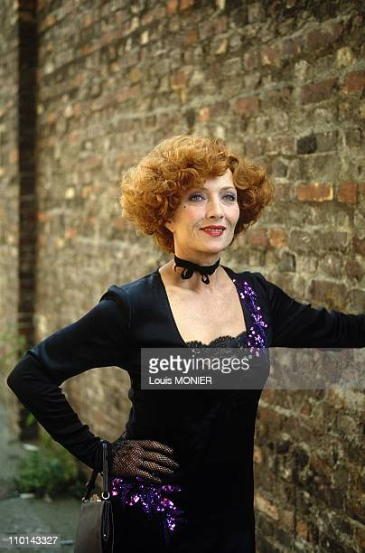 The actress Stephane Audran on movie set in France on September 15 1988