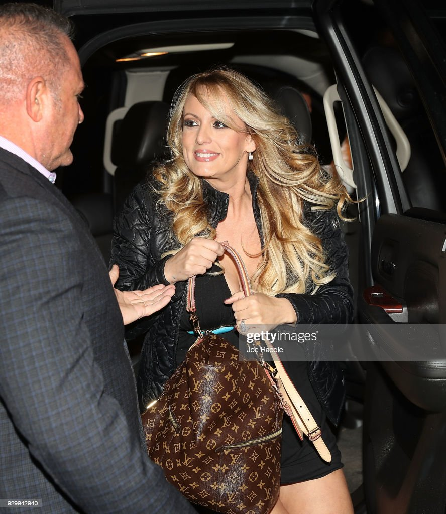 The actress Stephanie Clifford, who uses the stage name Stormy Daniels, arrives to perform at the Solid Gold Fort Lauderdale strip club on March 9, 2018 in Pompano Beach, Florida. Stephanie Clifford who claims to have had an affair with President Trump has filed a suit against him in an attempt to nullify a nondisclosure deal with Trump attorney Michael Cohen days before Trump's 2016 presidential victory.