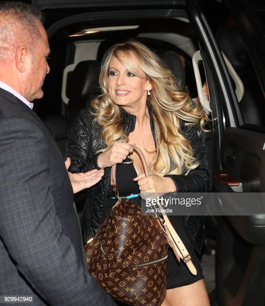 The actress Stephanie Clifford who uses the stage name Stormy Daniels arrives to perform at the Solid Gold Fort Lauderdale strip club on March 9 2018...